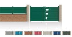 Modèle SégurPortail 1 vantail 1/4 ajouré côté serrure 2e vantail plein • Barreaudage horizontal ou vertical • Remplissage design horizontal ou vertical