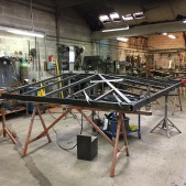 Fabrication de la structure de la toiture de la pergola