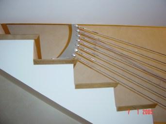 Rampe d'escalier - câbles inox