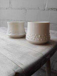 handmade porselein bekers