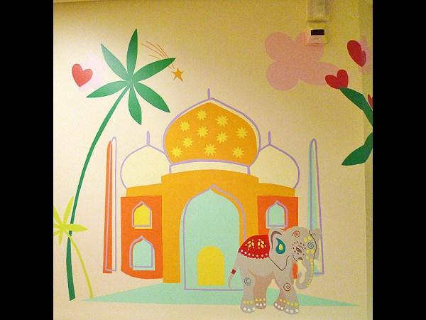 FRESQUE-asie-elephant-fleur-lotus-yoga-enfant-toulouse-hopital-décoration-5