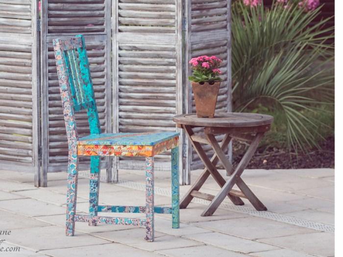 chaise-bois-deco-boheme-fleur-bleu-orange-verte-1