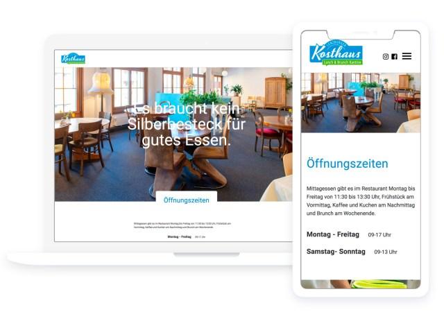 """Weblayout für das """"Lenzburger Kosthaus"""""""
