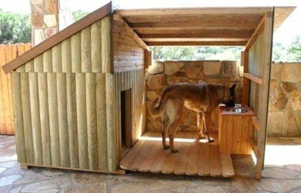 niche pour chien avec une terrasse