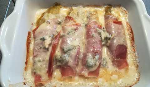 Endives au jambon de Parme et Gorgonzola
