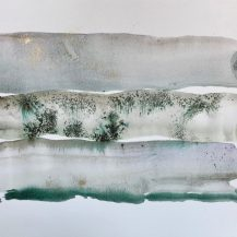 Little Landscape 4 Abstract watercolor painting on paper Nature romantic art