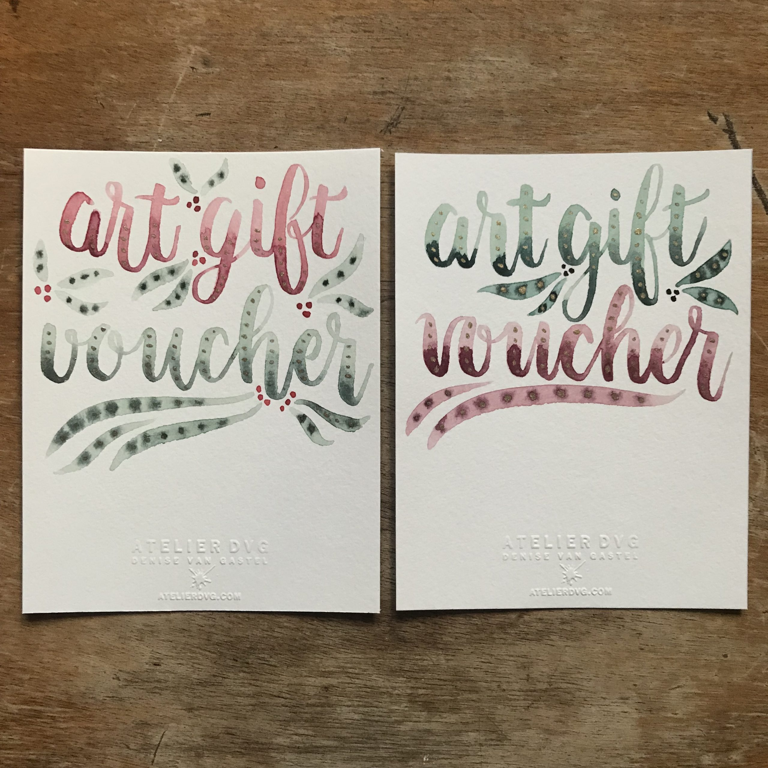 Art Gift Voucher - Red & Green