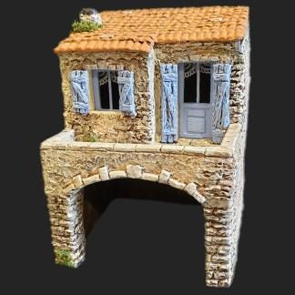Maison de village 3 bleu – Atelier de Fanny – Santon – Santons – Décors de crèche – Aubagne – Provence – Crèche de Provence – Santon de provence.jpg