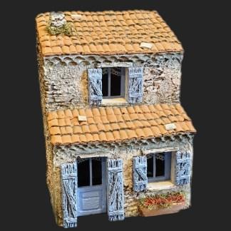 Maison de village 6 bleu – Atelier de Fanny – Santon – Santons – Décors de crèche – Aubagne – Provence – Crèche de Provence – Santon de provence.jpg