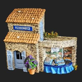 Poissonnerie de Fanny en Provcence – atelier de Fanny – Aubagne -provence – santon de provence -santon – décors de provence – décors de crèche – crèches de Provence- accessoire de Provence -artisan – made in france – france