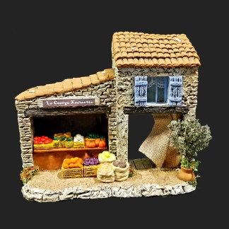 la courge enchantée en Provence – atelier de Fanny – Aubagne -provence – santon de provence -santon – décors de provence – décors de crèche – crèches de Provence- accessoire de Provence -artisan – made in france – france