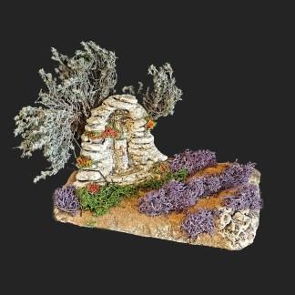 scénette fontaine aux prières de provence – atelier de Fanny – Aubagne -provence – santon de provence -santon – décors de provence – décors de crèche – crèches de Provence- accessoire de Provence -artisan – made in france – france