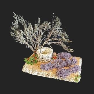 scénette puits fer de provence – atelier de Fanny – Aubagne -provence – santon de provence -santon – décors de provence – décors de crèche – crèches de Provence- accessoire de Provence -artisan – made in france – france