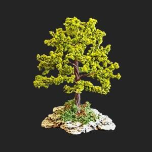 arbre 12 cm vert clair pour votre décor de crèche