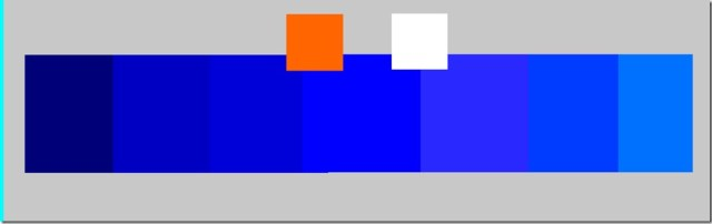 Mélange bleu foncé au clair