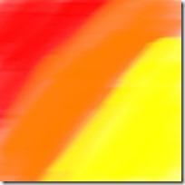 mélange de couleurs orange