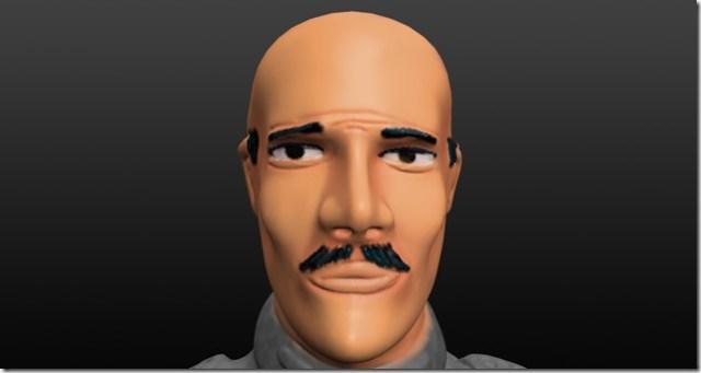 Peinture de la peau de figurine: cheveux et moustache peindre les éclaircis