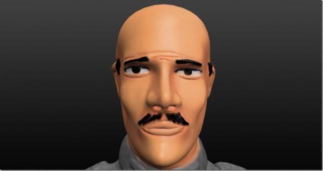 Peinture de la peau de figurine : cheveux et moustache où peindre