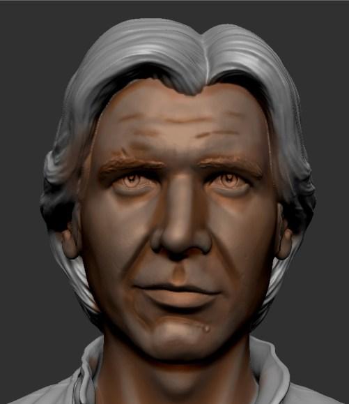 faire les hombres du visage d'une figurine