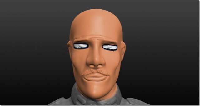 A ne pas faire: peinture des yeux d'une figurine 28 mm