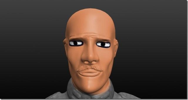 A ne pas faire: peinture des yeux d'une figurine