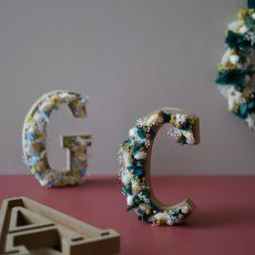 Les lettres fleuries