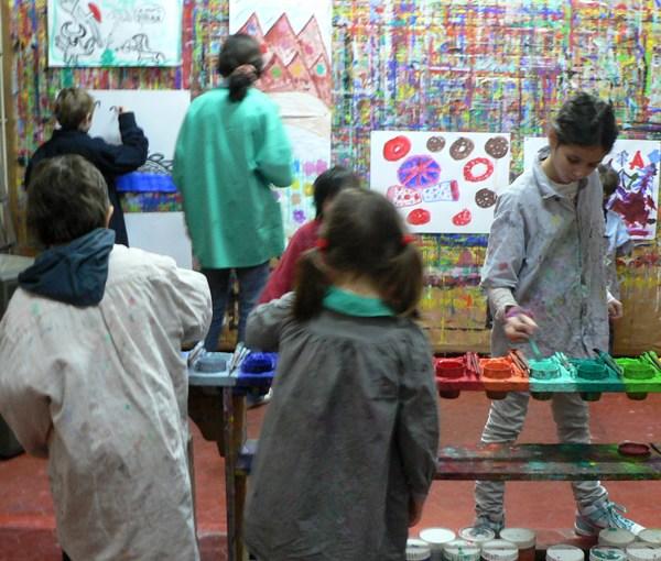 Le Jeu de peindre aux Petits Mercredis de la Friche