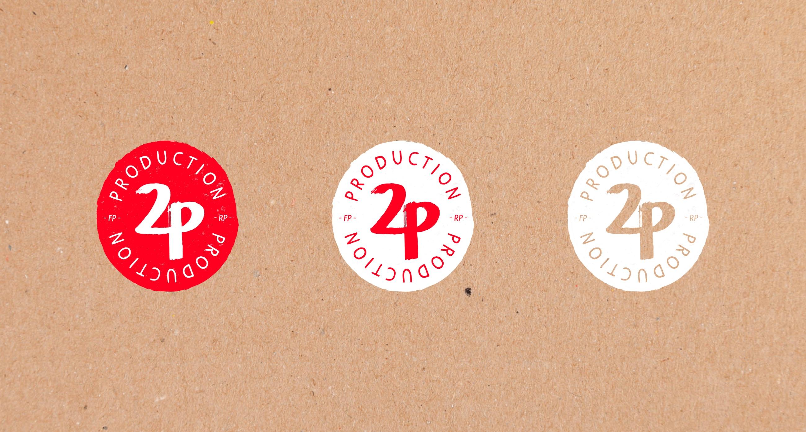 Le logo 2P production et ses déclinaisons