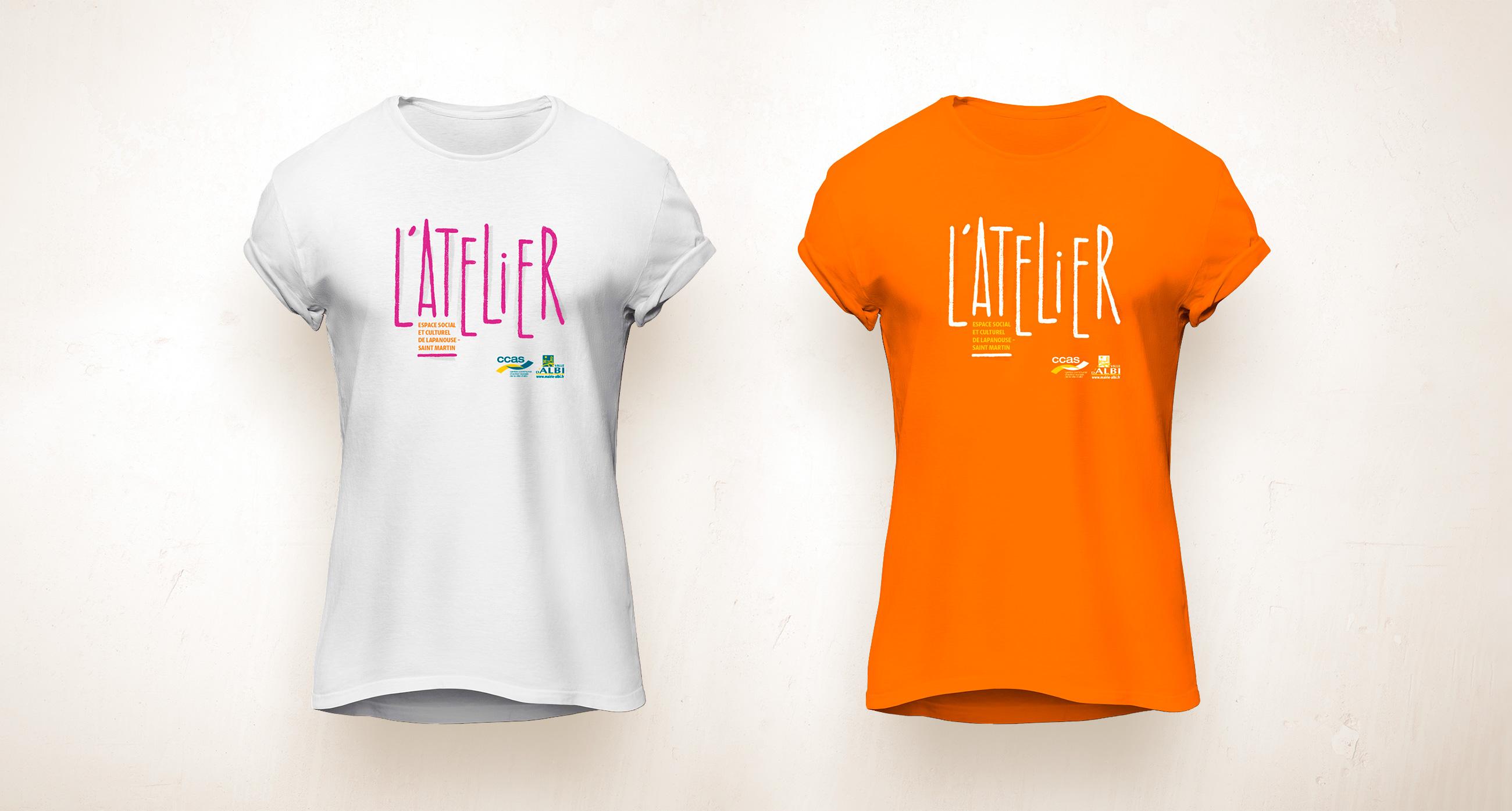 Flocage de t-Shirt aux couleurs de l'Atelier