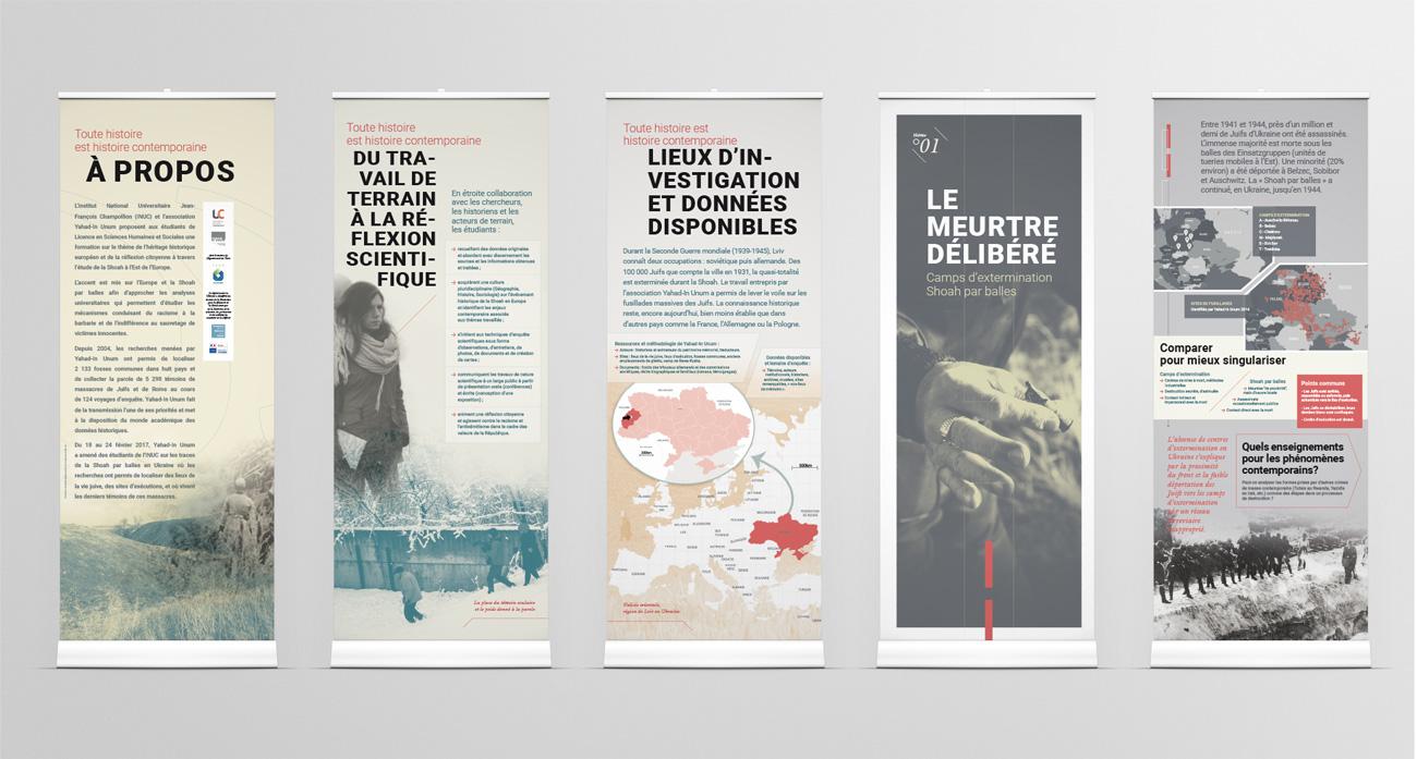 """Panneaux de l'exposition """"Toute histoire est histoire contemporaine"""""""