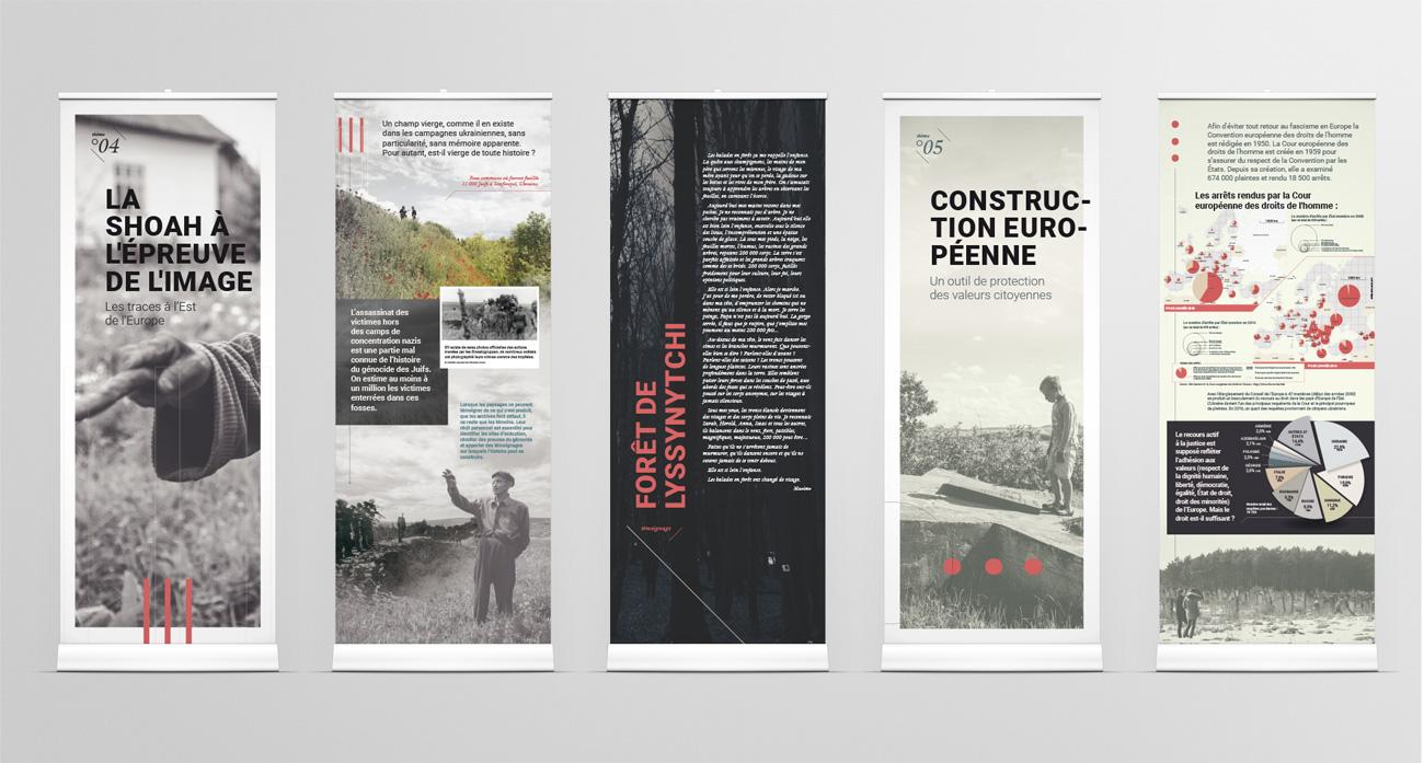 """Panneaux de l'exposition """"Toute histoire est histoire contemporaine"""" - suite"""