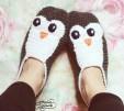 crochet penguin slippers