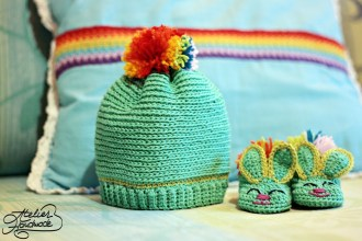 baby bunny slippers set