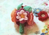 bouquet of crochet flowers