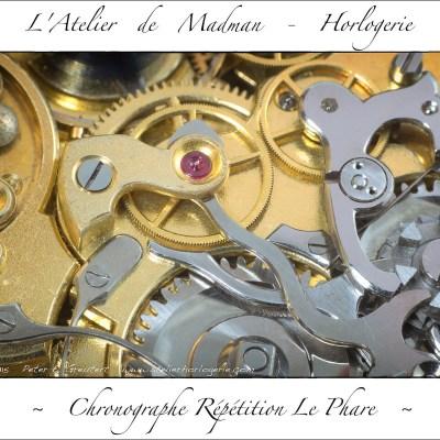 La roue de chronographe et son nouveau rubis.