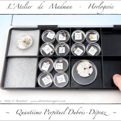 Les pièces du QP identifiés et regroupés  pour le nettoyage.