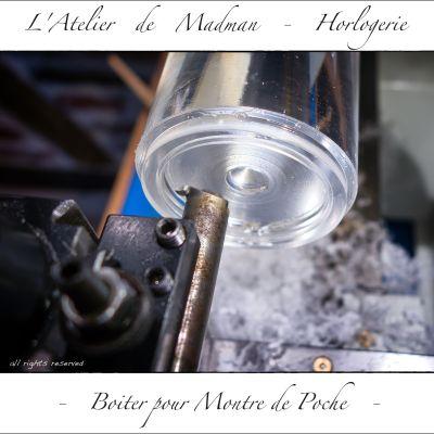 Usinage de la lunette. Tournage d'une gorge à l'aide d'un outil ancien.