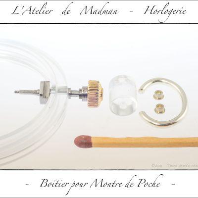 Préparation du pendant et bélière.