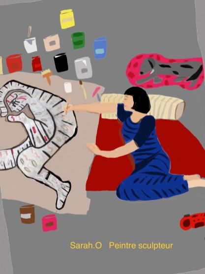 coloriage Sarah Olivier - Atelier Mallaval Agde