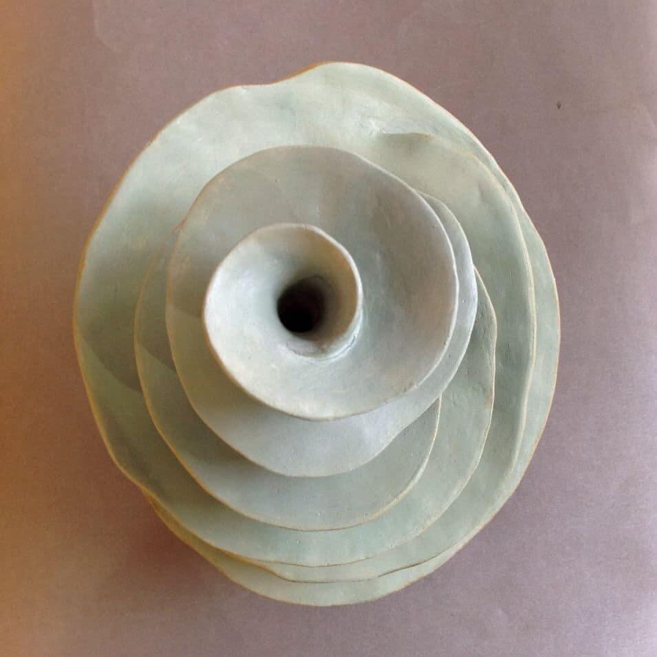 sculpture terre efflorescence création Agde