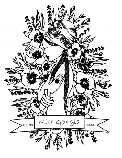 Miss Georgia logo (AMG DOLL)