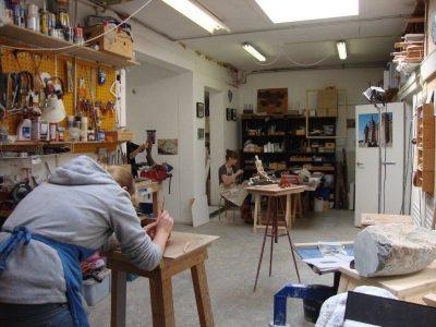 cursus beeldhouwen en schilderen
