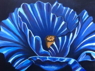 bloem acrylverf