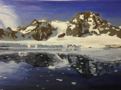 olieverfschilderij weerspiegeling