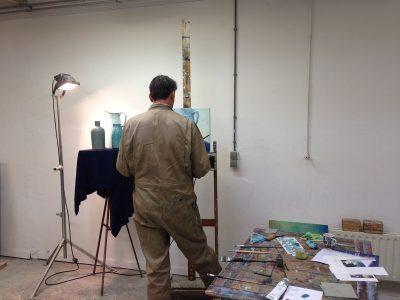 schilderen in olieverf