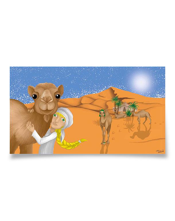 affiche-decoration-coloree-enfant-desert