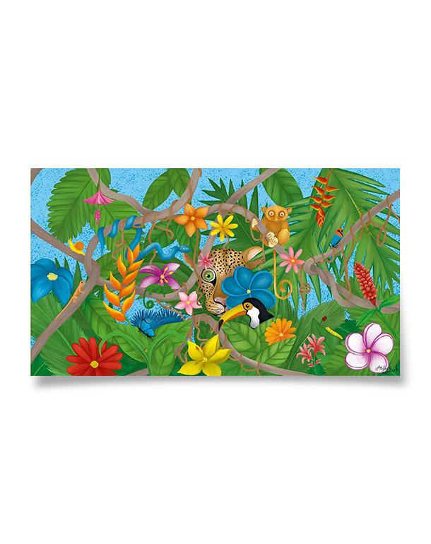 affiche-decoration-coloree-enfant-jungle