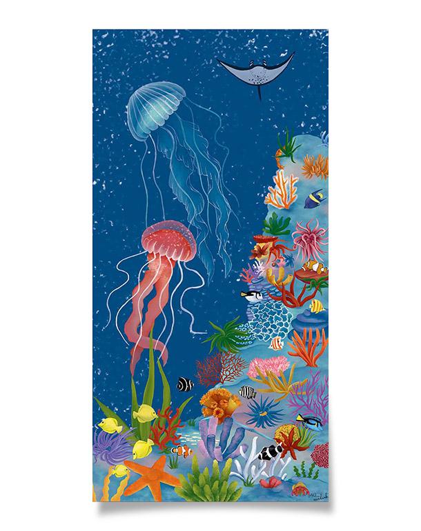 affiche-decoration-coloree-enfant-meduses-120x60