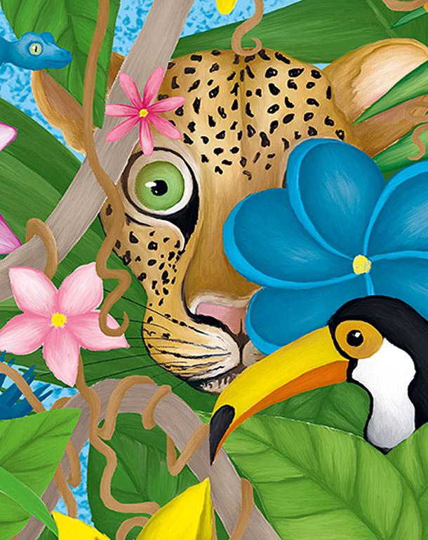 zoom-décoration-enfant-tableau-affiche-jungle-léopard