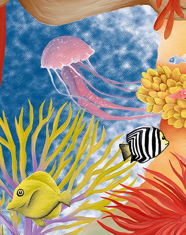 zoom-récif-décoration-enfant-affiche-poissons-coraux